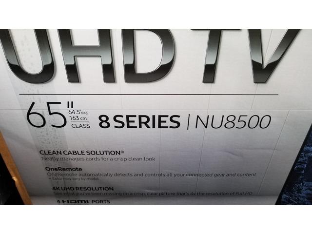 BRAND NEW IN BOX 2018 65 INCH SAMSUNG NU8500 4K 1500 WALMART ASKING